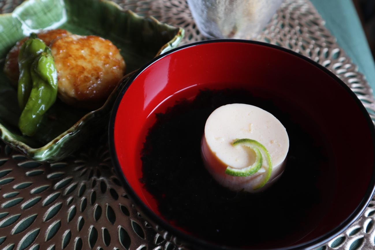 卵豆腐の満月椀