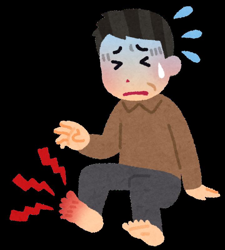 足の親指が痛い!痛風の基礎と原因を解説